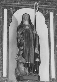 beeld van de H. Brigitta in de kerk van Werm