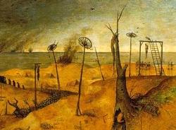 Galgenveld, uit 'Triomf van de dood' van P. Breughel