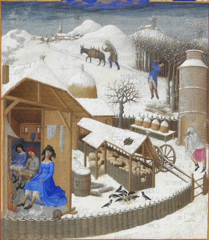 De gebroeders van Limburg: 'februari' in het getijdenboek van de Duc de Berry