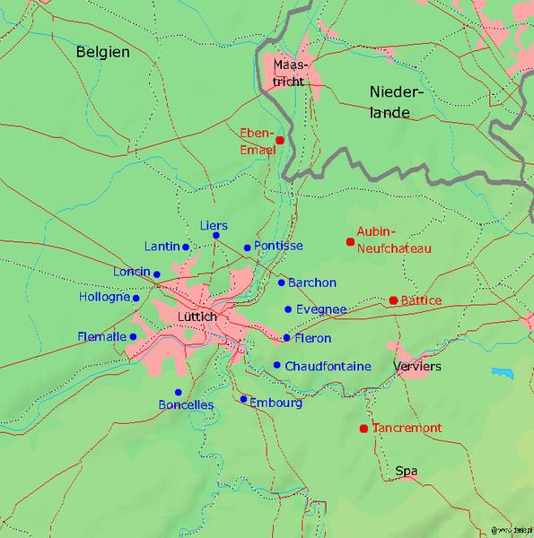 Gordel van vestingen rond Luik
